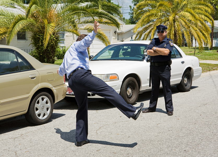 what happens if you fail a field sobriety test